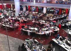 Newsroom van BBC World